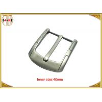 Wholesale Simple Custom Gunmetal Plating Metal Belt Buckle for Men 40MM Pin Style from china suppliers