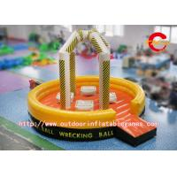 Wholesale Interactive Inflatable Sports Games Human Wrecking Ball Yellow / Red / Black from china suppliers