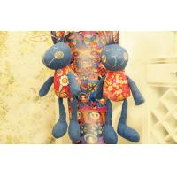 "Wholesale Old jeans soft homemade Stuffed toys , Recycle-crafts denim Rabbit 12"" from china suppliers"