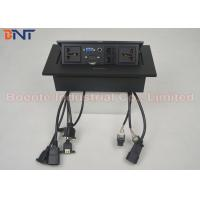 Wholesale Standard Square Panel Pop Up Desk Power Outlet With Rectangle Press Button from china suppliers