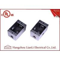 """Wholesale 1/2"""" 3/4"""" Two Gang Electrical Box Waterproof Terminal Box Powder Coated , UL Listed from china suppliers"""