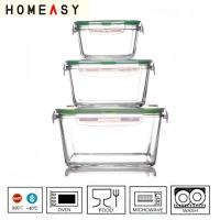 Wholesale Good odors and stains resistancePyrex Glass Lunch Containers With Locking Lids Ovenable  from china suppliers