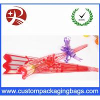 Wholesale Red Pink Purple Plastic Flower Sleeves Packaging , Plastic Sleeves For Flowers from china suppliers