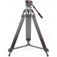 Wholesale Black Aluminum Lightweight Video Tripod with Bag , Fluid Head Video Tripod from china suppliers