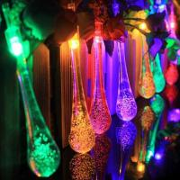 Wholesale 20LED Colorful Water-Drop Solar String Lights for Wedding Christmas Party Festival Outdoor Indoor Decoration from china suppliers