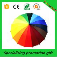 Wholesale Auto Open 24k Rainbow Straight Handle Umbrella With Metal Frame from china suppliers