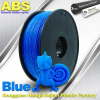 Wholesale ABS Blue Fluorescent Filament  , 1.75mm / 3.0mm 3D Printer Filament 1kg / Spool from china suppliers