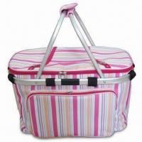 Wholesale Shopping Basket with PEVA Lining and Front Pocket, Made of Polyester, Suitable for Picnic from china suppliers