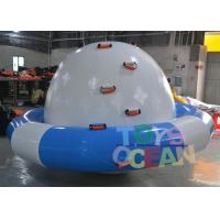Wholesale DIA 3M  Bule And White Inflatable Turtle Water Saturn For Amusement Water Park from china suppliers