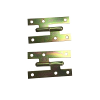 China Yellow Zinc Plated MS 110x55 H Cabinet Hinges Flat Head Heavy Duty on sale