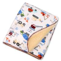 Wholesale Eco - Friend Customized Lightweight Polyester Baby Blanket Warped Knitting from china suppliers