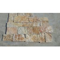 Wholesale Natural Stone Fieldstone Stone Veneer Yellow Slate Loose Random Stone Culture Stone Veneer from china suppliers