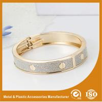 Wholesale Solid Brass 18K Gold Cuff Bangle Bracelets Fashion Jewelry Bangles from china suppliers