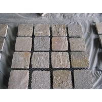Wholesale Natural Yellow Quartzite Tumbled Flagstone Patio Flooring Pavers P014 Quartzite Flagstone from china suppliers