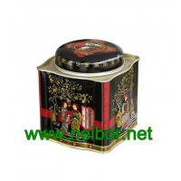 Wholesale Airtight tea tin container tea caddy tea box tea canister with wave pattern sides from china suppliers