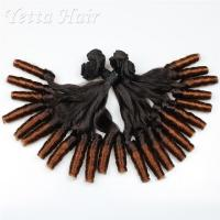 Wholesale Indian Natural Funmi Hair Weave , Ombre Human Hair Extensions With Spiral Curl from china suppliers