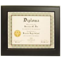 "Wholesale 13""x10"" Overall Size Pure Solid Black Wooden Picture Frames for Certificates from china suppliers"