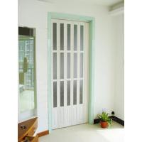 Wholesale Interior Decorative PVC Accordion Folding Door Walnut Color With Glass from china suppliers