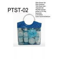 Wholesale Bubble Bath Gift Set, Shower Gel, Shampoo, Body Lotion, Body Salt, Mesh Sponge in PVC Bag from china suppliers