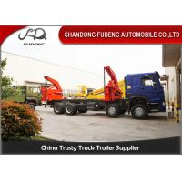 Wholesale 20 Feet Side Lifting Container Trailer Truck , XCMG 37 Ton Crane With Slide from china suppliers