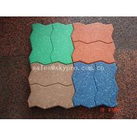 Wholesale Interlocking Outdoor rubber paver support black / red / green / blue from china suppliers