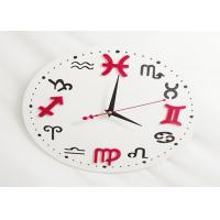 Wholesale Custom Plastic Crafts Round Wall Clock Big Dial For Livingroom Decoration from china suppliers