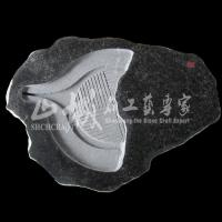 Wholesale Natural Stone(Granite) Black Color Tea Tray from china suppliers
