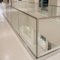 Wholesale Glass rail simple deck railing in aluminum base shoe design from china suppliers