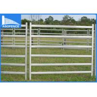 Quality Silver Painted Oval Cattle Yard Panel Six Rails With 1.8m X 2.1m Sizes for sale