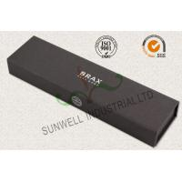 Wholesale Luxury Black Color Office Paper Box , Spot UV Coating Cardboard Packing Box from china suppliers