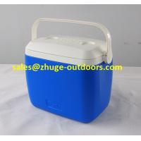 Wholesale Portable 8 Liter PU Insulation Blue Plastic Ice Cooler Box from china suppliers