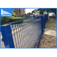 Wholesale Powder Painted Roll Top Fence Wire Mesh With Square / Peach Post High Rigidity from china suppliers