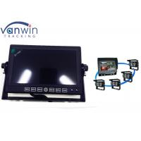 Wholesale Truck Wireless 4CH Quad Car Video Monitors with Built-In Player, 4 cameras from china suppliers