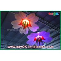 Wholesale LED Hang Flower Inflatable Lighting Decoration Nylon Cloth For Advertising / Event from china suppliers