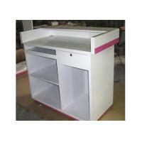 Wholesale Modern Style Cash Wrap Counter With Drawer , White Retail Store Checkout Counters from china suppliers