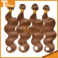 Wholesale Grade 5A Color#8 Peruvian Hair Weave Blonde And Brown Body Wave Blonde Virgin Hair Blonde from china suppliers