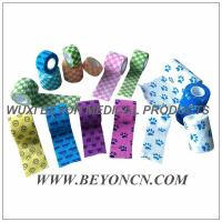 Wholesale Printed Cohesive Flexible Bandage Bitter Taste Vet Wrap, Flexible Fabric Bandages from china suppliers