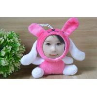 Wholesale Kids / Children present Plush Studded 3D Face Dolls Rabbit toys gift , Personalized size from china suppliers