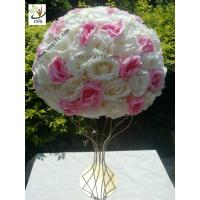 Wholesale UVG various sizes half roses and hydrangea flower balls for wedding table centerpieces decoration FRS02 from china suppliers