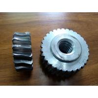 Wholesale Customized Precision forged metal worm Gear Hobbing Services support  zinc plated from china suppliers
