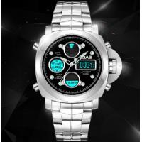Wholesale SBAO Men Dual Time 1/100 Second Chronograph Steel Strap Fashion Sport Wrist Luminous Watches S-9005 from china suppliers