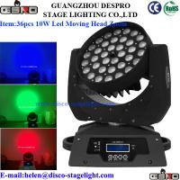 Wholesale Disco DJ Stage Light LED Moving Head Wash With Zoom 36pcs 10W from china suppliers