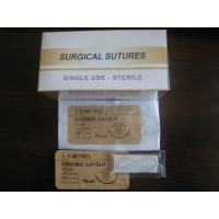 Wholesale 0# Plain or Chromic Catgut suture 75cm with 3/8 c needle from china suppliers