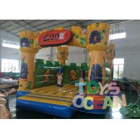 Wholesale Big Party Indoor Playground With Bouncy Castle Amazing Animal Zoo 0.55PVC from china suppliers