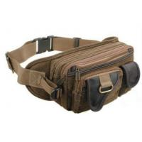Wholesale Brown Multi - Layer Single Shoulder Promotional Sports Bags of Cotton Canvas from china suppliers