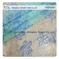 Wholesale Polyster Nylon Lace Fabric of Mint Green with  Pattern Floral from china suppliers