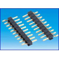 Wholesale Pitch 2.54mm 1*10P SMT Single row board to board connector Black Gold-plated from china suppliers