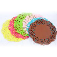 Wholesale Red color elegant die cut tea cup coaster on hot sale from china suppliers