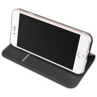 Wholesale Grey smartphone Endurable Magnetic Folio iPhone 8 leather phone case with card holder from china suppliers