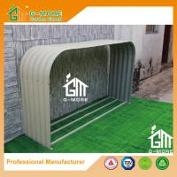 Wholesale 180x44x100cm Ivory Color Easy Assembly Galvanized Steel Wood Shelter from china suppliers